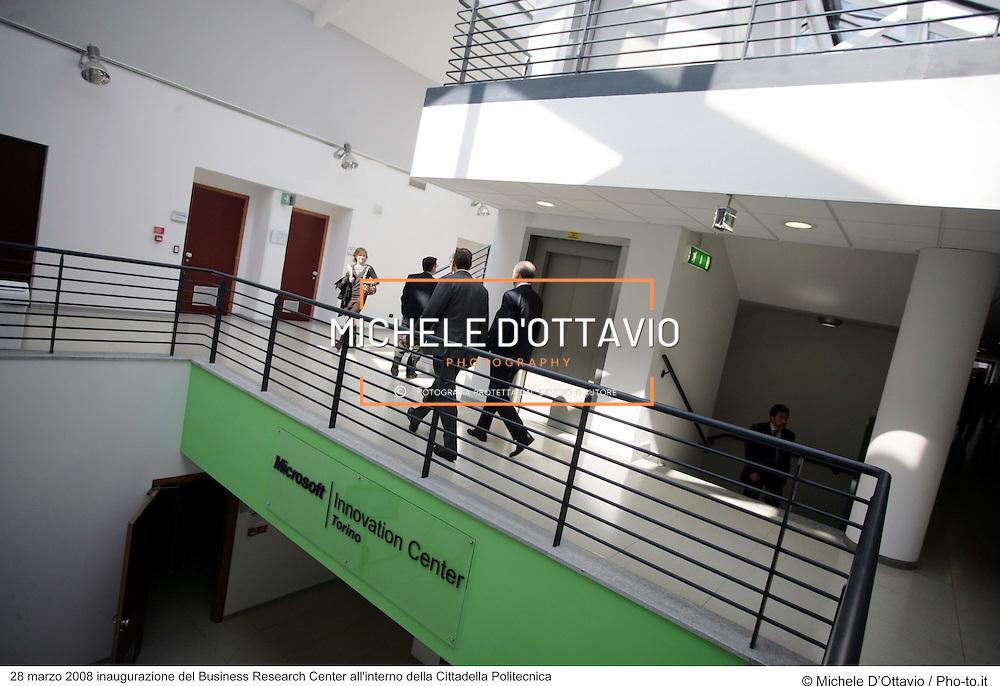 28 marzo 2008 inaugurazione del Business Research Center all'interno della Cittadella Politecnica..