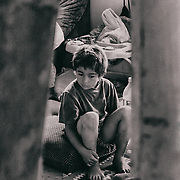 Sarajevo - 23 July 2013- One of children, Bisban, just wake up by our becoming in the house.