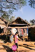 Vendor stalls in Kinpun base of Mt. Kyaikhtiyo. Mon State, Myanmar