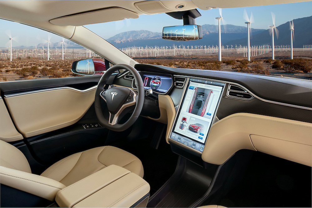 2015 tesla model s p85 plus photographed amongst power generating windmills of palm springs ca. Black Bedroom Furniture Sets. Home Design Ideas