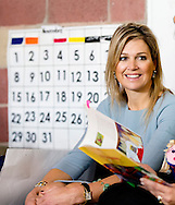 5-3-2014 BOGOTA - COLOMBIA - Juan Manuel Santos<br /> Colombia, President Dutch Queen MAxima of the Netherlands visit with the First Lady van Colombia, Mar&iacute;a Clemencia Rodr&iacute;guez M&uacute;nera a day care centre for children 0-5 years. COPYRIGHT ROBIN UTRECHT