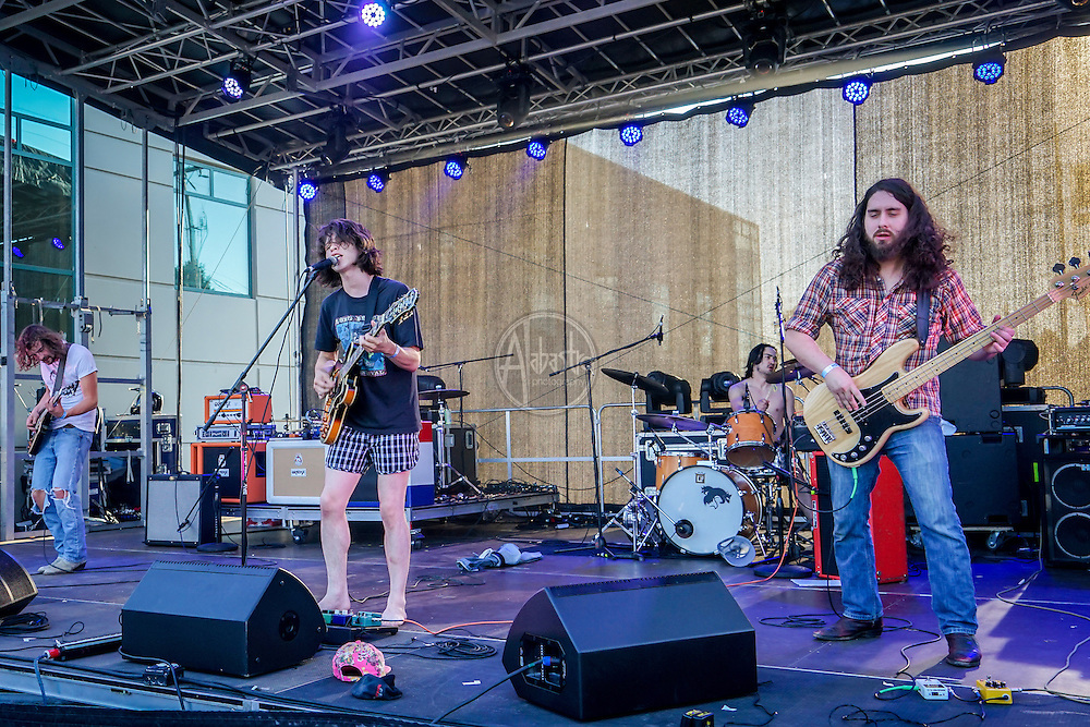 Fox & The Law performing at Soltice Music Festival, Fremont Fair 2015.
