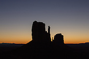 The Mittens before the sun has risen, Monument Valley, Arizona