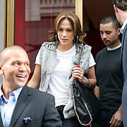 Jennifer Lopez leaves Upper East Side restaurant Rouge Tomate.