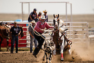 Rocky Boy Rodeo, Indian cowboys, Tie Down Roping, calf roping, Rocky Boy Reservation, Montana, Casey Stone, 2010 INFR Steer Wrestling World Champion