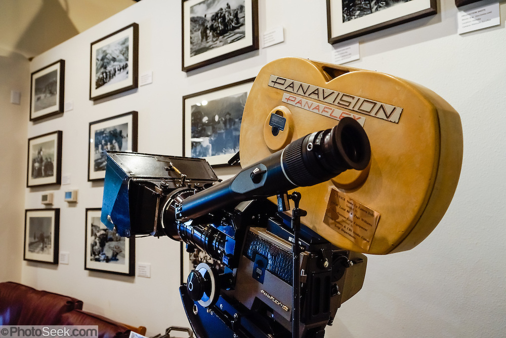 Panavision Panaflex Gold II movie camera (1987 model). Fans of movies and television shouldn't miss the Museum of Western Film History, 701 S. Main Street, Lone Pine, California, 93545, USA. (Formerly called the Beverly and Jim Rogers Museum of Lone Pine Film History.) Web site: www.lonepinefilmhistorymuseum.org