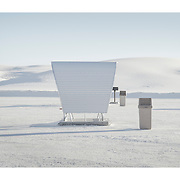 Picnic area shelters, White Sands National Monument New Mexico