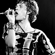 Mick Jagger of the Rolling Stones sings onstage at the Palladium theater in New York City in June 1978.