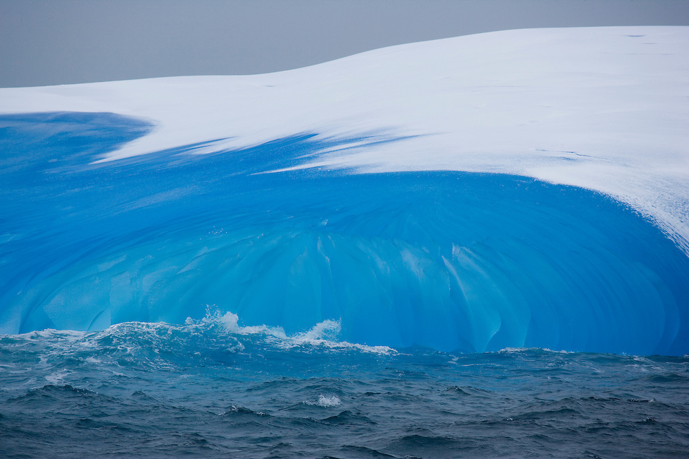 February 10th 2007. Southern Ocean. A melting iceberg reflects the color of the water around it in the Ross Sea.