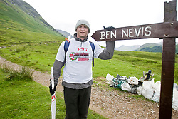 John starts the walk..The John Hartson Foudation walk up Ben Nevis..Pic ©2010 Michael Schofield. All Rights Reserved.