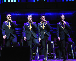 G4 (Jonathan Ansell, BenThapa, Mike Christie and Nick Ashby) Back For Good Tour 2016 with special guests Faryl Smith and Rock Choir. Held at Cadogan Hall, London on Friday 8 April 2016