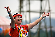 This dancer is from a local aboriginal  tribe called the Amis near Xindian, Taiwan.