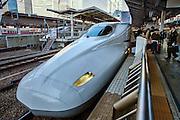 Shinkansen (bullet train) platform at Tokyo station