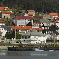 Muros. Typical Galician shoreline and traditional towns