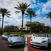 ST. PETERSBURG, FLORIDA -- March 1, 2013 -- The new Aston Martin Vanquish and Aston Martin DB9 convertible is photographed in St. Petersburg, Florida.   (PHOTO / CHIP LITHERLAND)