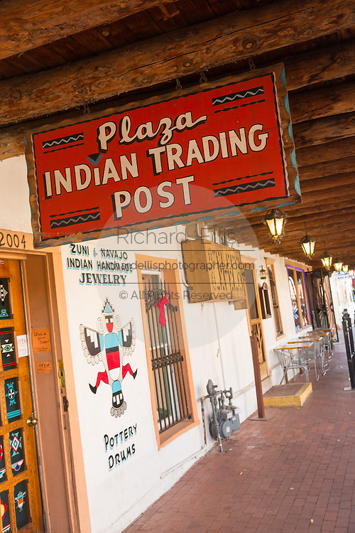 Indian Trading Post in the Old Town Plaza December 14, 2015 in Albuquerque, New Mexico.