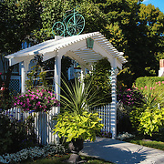 &quot;A floral Welcome&quot; <br /> <br /> Enjoy this lovely and charming entrance to Metivier Inn on Mackinac Island in summer!