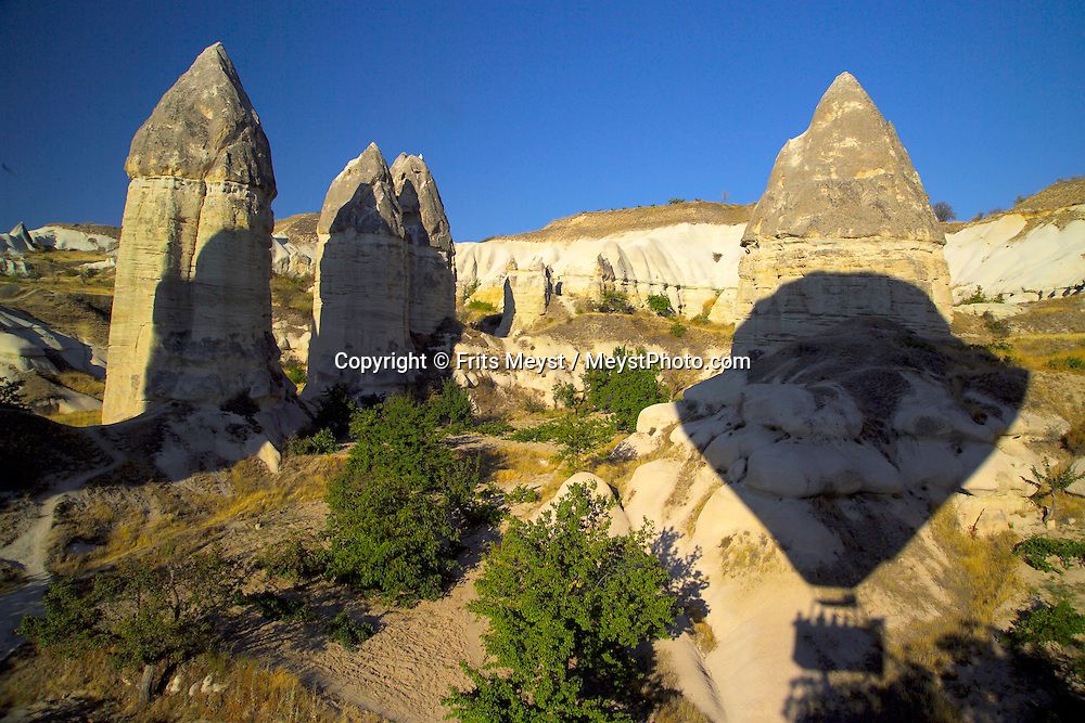 Goreme, Cappadocia, Nevsehir, Turkey. Love Valley is named after its phallic rock formations. A hot air balloon flight is one of the best ways to explore the fairy chimney landscape of Cappadocia and the Gorme National Park. Photo by Frits Meyst/Adventure4ever.com