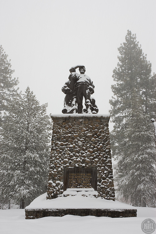 """""""Donner Party Memorial"""" - The memorial for the infamous Donner Party in Truckee, CA."""