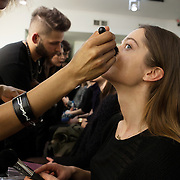 "Milano, February 24th, 2015. Make up for the fashion show ""Next Generation"", Teatro Vetra."