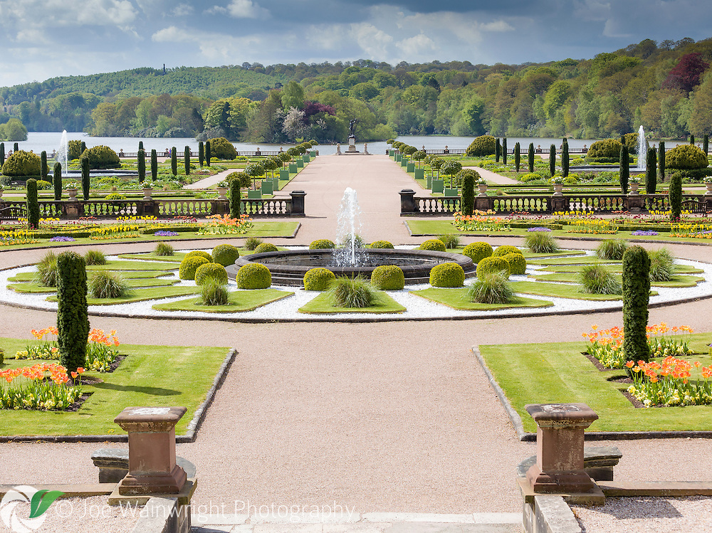 A view across the Trentham Gardens, towards the lake.
