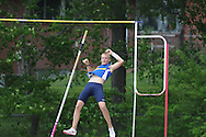 Sam Kendricks clears 14 feet 10 inch in the pole vault at the Class 5A District Track Meet at Oxford High School on Thursday, April 22, 2010 in Oxford, Miss.