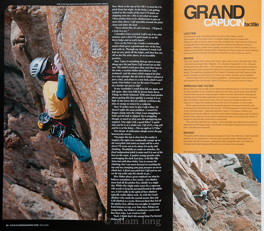 Spread, Climb Magazine