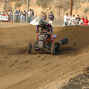 The ATVA MX National Feb 4-5, 2006 at Glen Helen. John Natalie Jr. (#13) loses his seat in Moto #2 after gaining a 10sec lead over second place.  The loss of the seat would end up costing him the race and a third place finish.