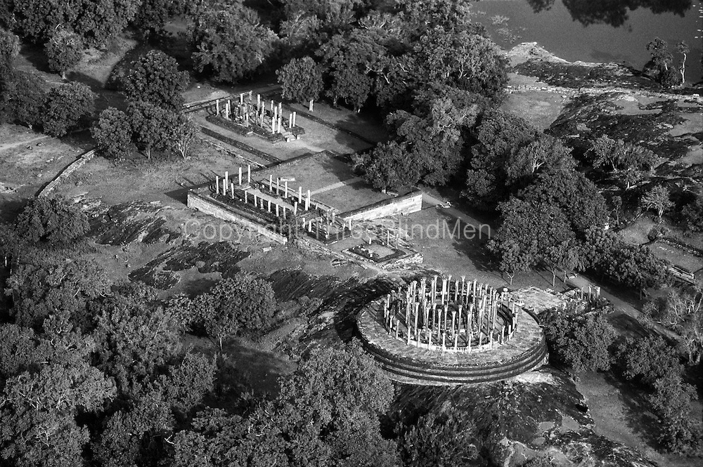 Aerial view of Medirigiriya ruins.