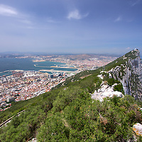 View looking north from the top of the rock...the rock of Gibraltar.