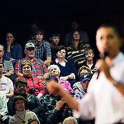 Barack Obama speaks at Dunlap Livestock Auction during his campaign for the Democratic presidential nomination, Dunlap, Iowa, November 24, 2007.