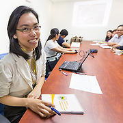 "CAPTION: Although Makati City already has a lot of ongoing initiatives that address climate change, by providing a framework, ICLEI have enabled the local government to further incorporate the issue into local plans. Pictured here, Liza Velle Ramos from the Disaster Risk Reduction and Management Department says, ""while we're talking about 'regular projects', we are now better equipped to consider these regular projects in a climate change perspective"". LOCATION: Makati City Hall, Makati, Metro Manila, Philippines. INDIVIDUAL(S) PHOTOGRAPHED: Liza Velle Ramos (left)."