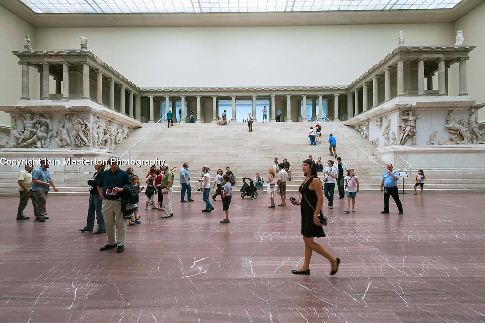 The  Pergamon Altar at Pergamon Museum in Berlin Germany