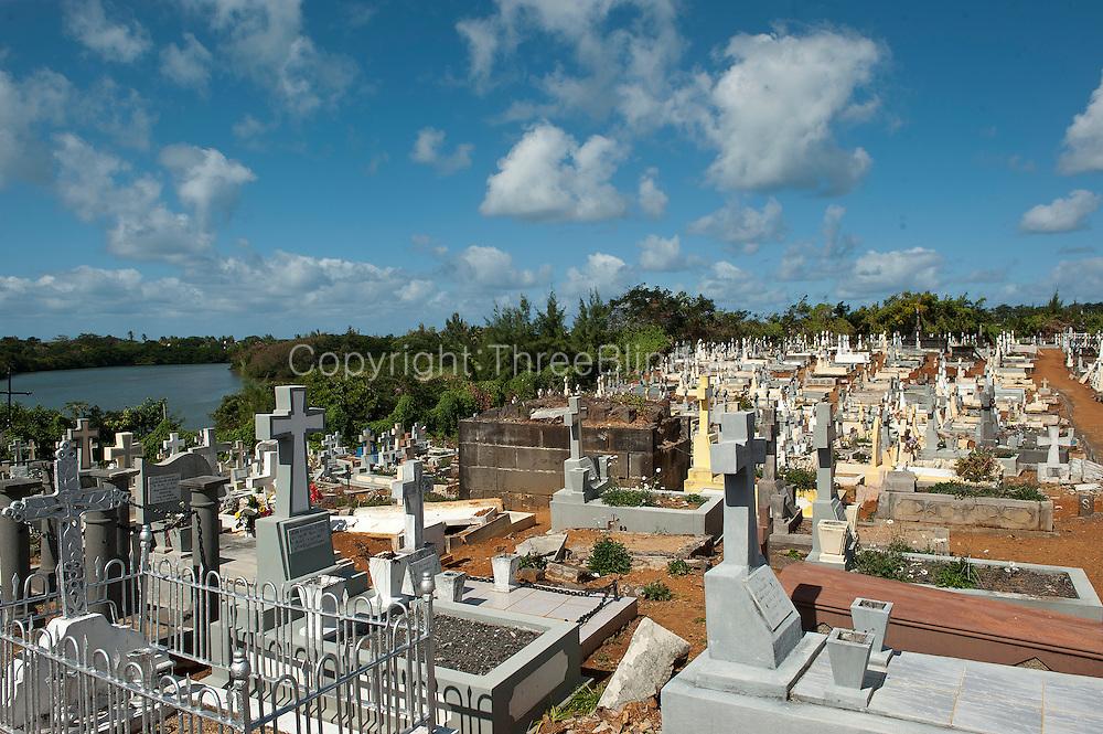 Mauritius. Christian cemetery at Mahebourg