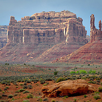 An early spring view looking into the Cedar Mesa, from Valley of the Gods, Utah