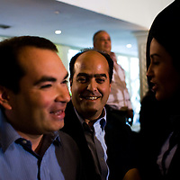VENEZUELAN POLITICS / POLITICA EN VENEZUELA<br /> Press Conference of Leaders of the Opposition / Rueda de prensa de Lideres de la Oposici&oacute;n.<br /> Julio Borges, President of political party Primero Justicia / Julio Borges, Presidente del Partido Politico Primero Justicia<br /> Caracas - Venezuela 2009<br /> (Copyright &copy; Aaron Sosa)