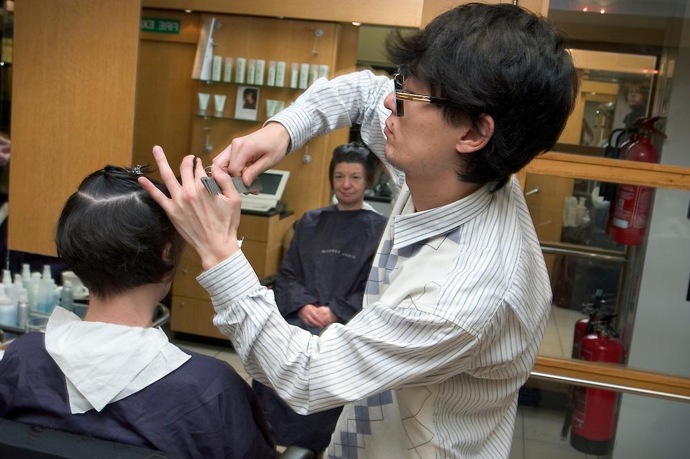 Japanese Hairdresser Hiroki Ezaki Workers Photos Archive