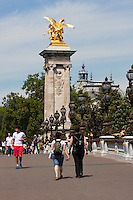 Pont Alexandre III Paris France in Spring time of May 2008