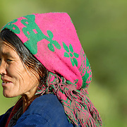 A Thakuri woman in the village of Darapari, Karnali Valley, Humla, Nepal.