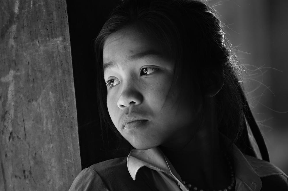 A Khamu girl near Luang Prabang, Laos.