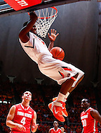 CHAMPAIGN, IL - JANUARY 05: Brandon Paul #3 of the Illinois Fighting Illini idunks the ball against the Ohio State Buckeyes at Assembly Hall on January 5, 2013 in Champaign, Illinois. Ilinois defeated Ohio State 74-55. (Photo by Michael Hickey/Getty Images) *** Local Caption *** Brandon Paul