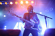Bassist David Amezcua performing with Awolnation at Pop's in Sauget, IL on January 21, 2012.
