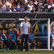 United States Manager JURGEN KLINSMANN watches the game from the side lines in the first half of a Copa America Centenario Group A match between the United States and Paraguay Saturday, June. 11, 2016 at Lincoln Financial Field in Philadelphia, PA.