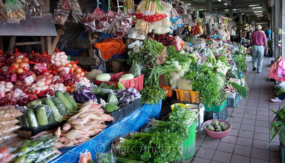 Local food market in Kota Kinabalu, Sabah, Malaysia