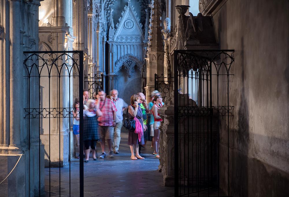 22/08/16 - SAINT PIERRE DE CURTILLE - SAVOIE - FRANCE - Visite en audio-guide a l Abbaye Royale d Hautecombe, Necropole de la Maison de Savoie - Photo Jerome CHABANNE