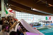 Team Presentation<br /> ITA v HUN Italy versus Hungary<br /> FINA Women Water Polo World League qualification round<br /> Avezzano (AQ) Italy ITA Piscina Comunale Avezzano <br /> Centro Italia Nuoto  Unipol<br /> April 18th, 2017 <br /> Photo &copy;D.Montano/Deepbluemedia/Insidefoto