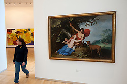 Painting galleries at Statens Museum for Kunst or Royal Museum of Fine Arts in Copenhagen Denmark