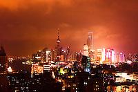 night view of Shanghai China