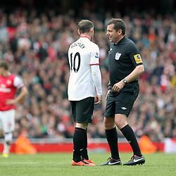 Wayne Rooney is spoken to the referee Phil Dowd (c) Phil Duncan | StockPix.eu