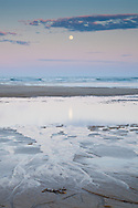 Full moon rising at Coast Guard Beach in Eastham.